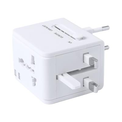Picture of CELSOR UNIVERSAL PLASTIC TRAVEL ADAPTER with 2 USB Charger Ports