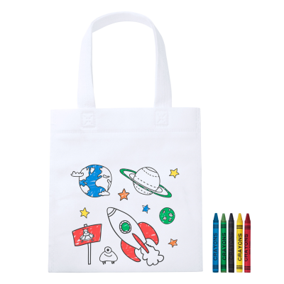 Picture of MOSBY CHILDRENS NON-WOVEN COLOURING BAG with 5 Crayons
