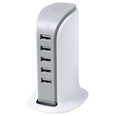 Picture of PATSY PLASTIC USB AC CHARGER with 5 Ports Max Output 6000 Ma