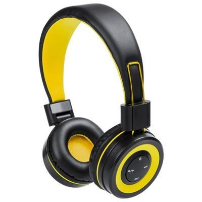 Picture of TRESOR FOLDING PLASTIC BLUETOOTH HEADPHONES with Built-in Rechargeable Battery & Hands-free Call Fun