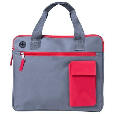 Picture of RADSON DOCUMENT BAG with Colour Mobile Phone Holder Pocket Matching Colour Zippers & Earphones Outle