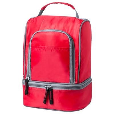 Picture of LISTAK ZIP 210D POLYESTER COOL BAG with 2 Compartments