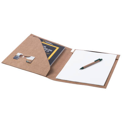 Picture of BLOGUER RECYCLED PAPER DOCUMENT FOLDER with 20 x Sheet Note Pad & Ball Pen