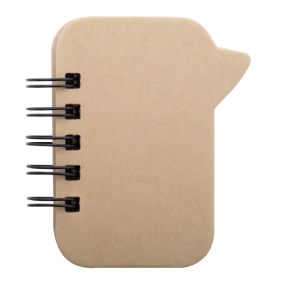 Picture of LAZZA RECYCLED PAPER SPEECH BUBBLE SHAPE SPIRAL NOTE PAD with Different Sized Adhesive Notes 100 Pcs
