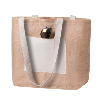 Picture of FARUS JUTE BEACH BAG with Matching Colour Front Pocket & Handles
