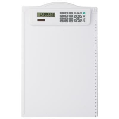 Picture of OSTER PLASTIC CLIPBOARD with Calculator in White
