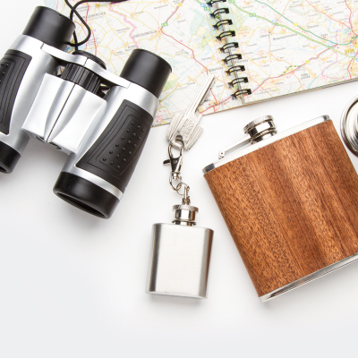 Picture of SAILOR PLASTIC BINOCULARS in Silver & Black