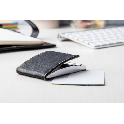 Picture of VALENCE BUSINESS CARD HOLDER in Black