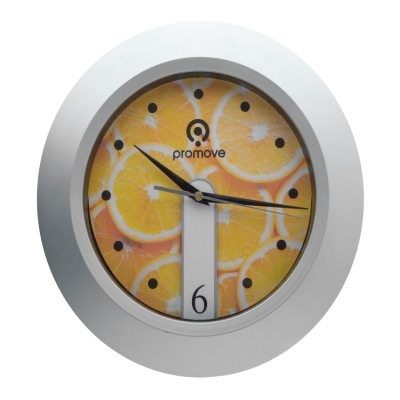 Picture of BRATTAIN ROUND WALL CLOCK in Silver