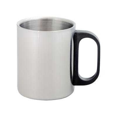 Picture of GILBERT METAL MUG in Silver & Black