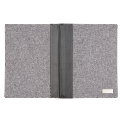 Picture of LINEN & PU LEATHER COVERED A4 SIZED DOCUMENT FOLDER