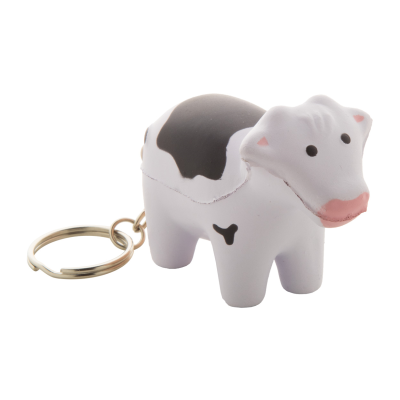 Picture of MILKY COW SHAPE ANTISTRESS BALL with Metal Keyring
