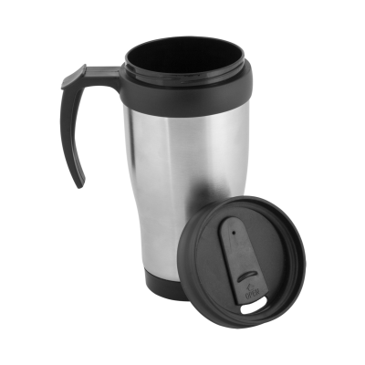 Picture of PATROL THERMO MUG in Silver & Black