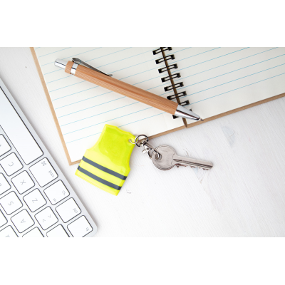 Picture of PIT LANE MINI REFLECTOR VEST KEYRING in Yellow