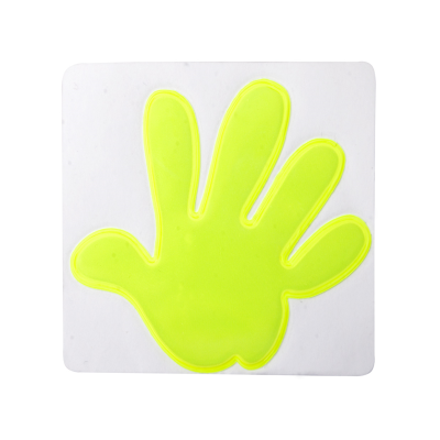 Picture of ASTANA HAND SHAPE REFLECTIVE STICKER in Yellow