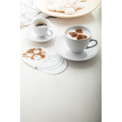 Picture of MOCCA PORCELAIN ESPRESSO CUP SET with 2 Pcs of Cup & Saucers 90 Ml
