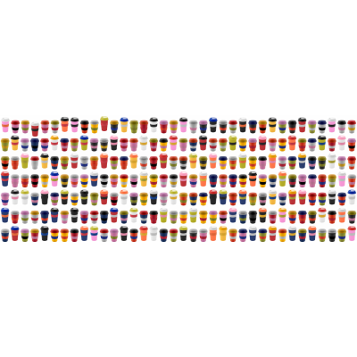 Picture of CREACUP CUSTOMISABLE DOUBLE WALL PLASTIC THERMO MUG with Silicon Grip & Drink Lid