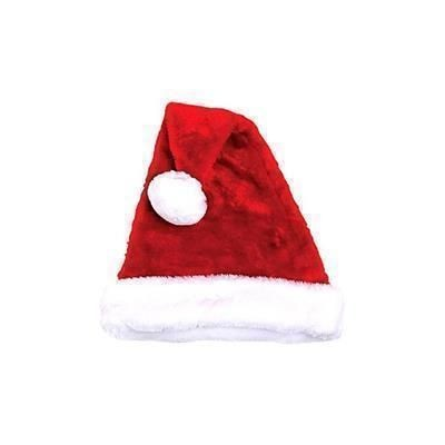 Picture of PLUSH FATHER CHRISTMAS SANTA HAT with Fur Trim