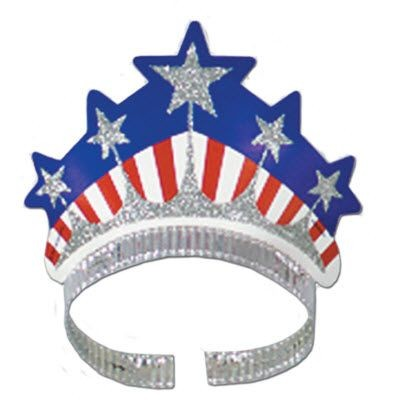 Picture of USA STARS & STRIPE GLITTERED TIARA