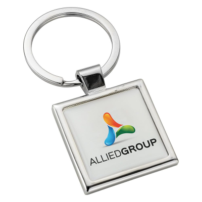 Picture of SQUARE ALLOY INJECTION KEYRING