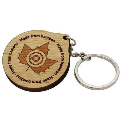 Picture of 30MM BAMBOO KEYRING