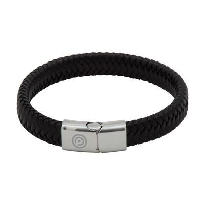 Picture of ENGRAVED PU CORD EFFECT BRACELET