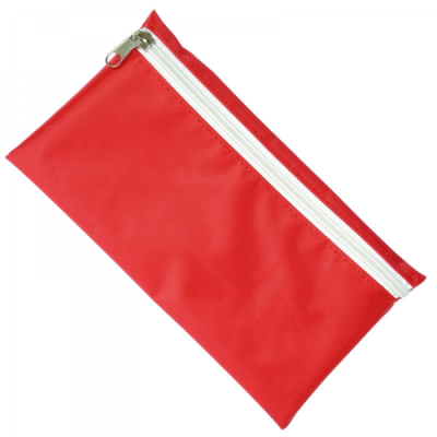 Picture of NYLON PENCIL CASE in Red with White Zip