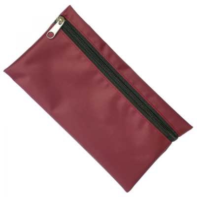 Picture of NYLON PENCIL CASE in Burgundy with Black Zip