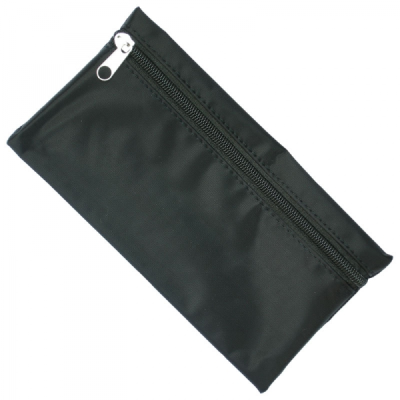Picture of NYLON PENCIL CASE in Black with Black Zip