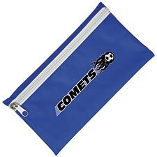 Picture of NYLON PENCIL CASE in Royal Blue with White Zip