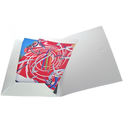 Picture of POLYPROPYLENE CONFERENCE FOLDER in Frosted White