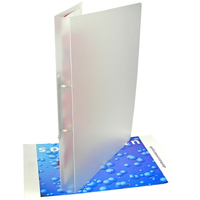 Picture of POLYPROPYLENE RING BINDER in Frosted Clear Transparent