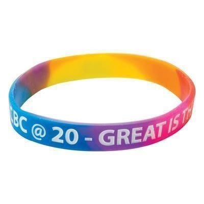 Picture of SILICON WRIST BAND with Multicoloured Material