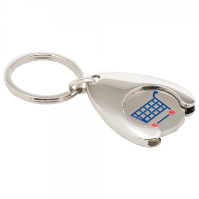 Picture of STAMPED SOFT ENAMEL WISHBONE TROLLEY COIN KEYRING