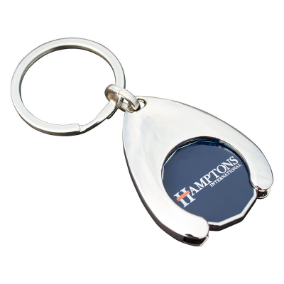 Picture of WISHBONE TROLLEY COIN KEYRING (FULL COLOUR PRINT)