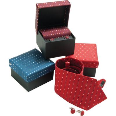 Picture of TIE & CUFFLINK BOX SET WOVEN SILK