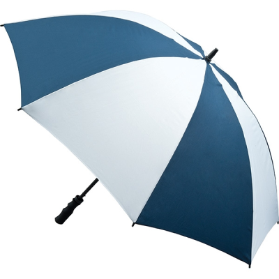 Picture of FIBREGLASS STORM UMBRELLA in Navy & White