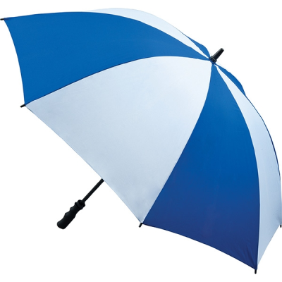 Picture of FIBREGLASS STORM UMBRELLA in Royal Blue & White