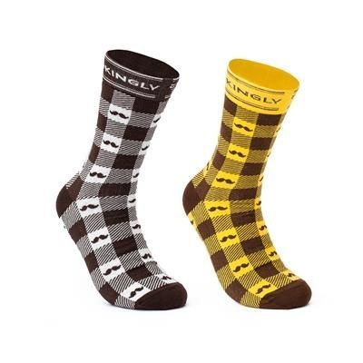 Picture of PREMIUM CLASSIC CREW NORMAL ALLOVER REPEATED DESIGN SOCKS