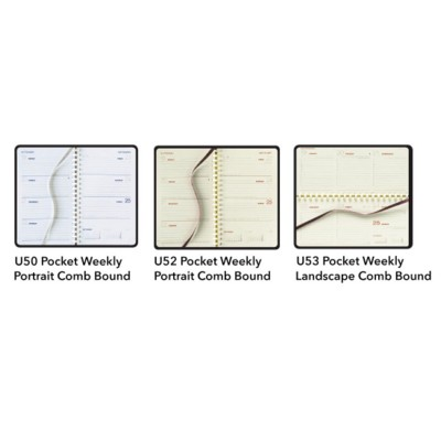 Picture of CASTELLI COMB BOUND POCKET WEEKLY DIARY INSERT