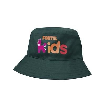 Picture of BREATHABLE POLY TWILL INFANTS BUCKET HAT WITH SEWN EYLETS - INFANT SIZE (52CM)
