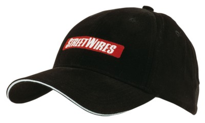 Picture of BRUSHED HEAVY COTTON BASEBALL CAP with Reflective Sandwich & Strap