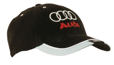 Picture of BASEBALL CAP in Brushed Heavy Cotton with Reflective Trim & Tab on the Peak