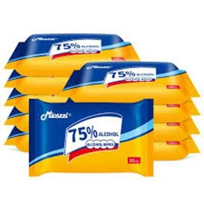 Picture of POUCH OF 10 ALCOHOL WET WIPE TISSUE PACK