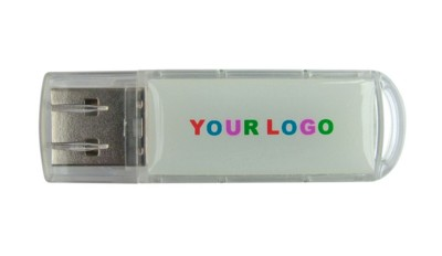Picture of BABY CLEAR TRANSPARENT USB FLASH DRIVE MEMORY STICK in Translucent Clear Transparent