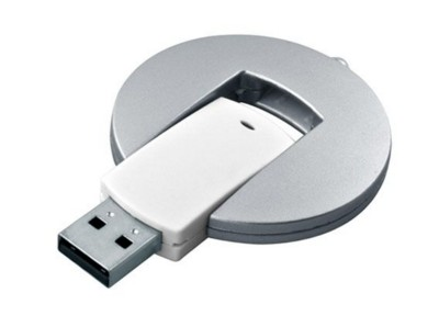 Picture of BABY ROUND DISC USB FLASH DRIVE MEMORY STICK in Silver