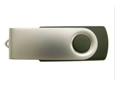 Picture of BABY TWISTER RECYCLED USB FLASH DRIVE MEMORY STICK in Black