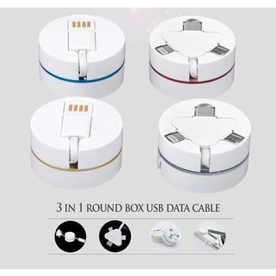 Picture of TYPE C 3-IN-1 ROUND BOX USB DATA CABLE