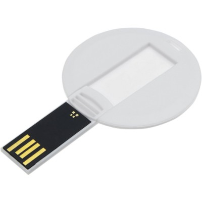 Picture of BABY CARD SWITCH ROUND USB MEMORY STICK in White