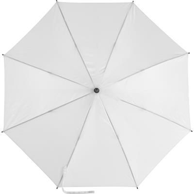 Picture of AUTOMATIC POLYESTER UMBRELLA in White